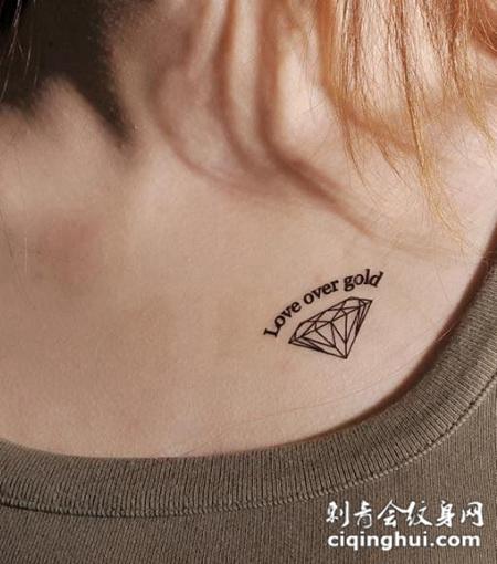 锁骨小纹身图案精选图片