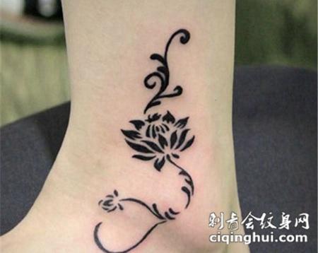 图腾玫瑰纹身图片大全(图片编号:4691)_玫瑰花 - 刺青