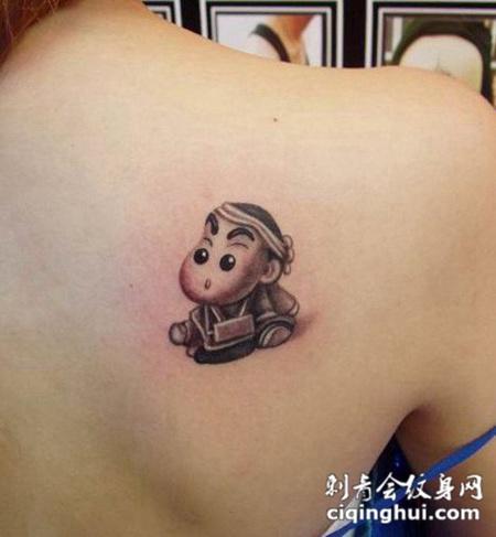 猴子生肖纹身图案背部图