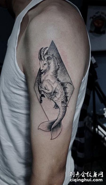 星座控的最爱,手臂摩羯座个性纹身图案