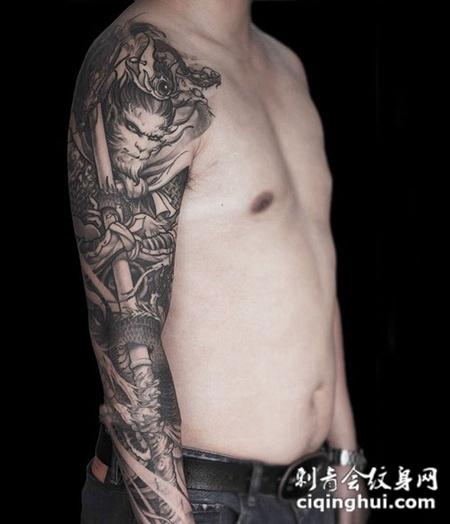 大圣显神威,霸气斗战胜佛个性花臂纹身