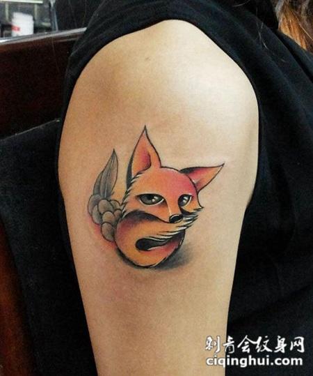 狐狸纹身图腾图片素材