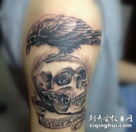 大臂敢死队老鹰纹身图片
