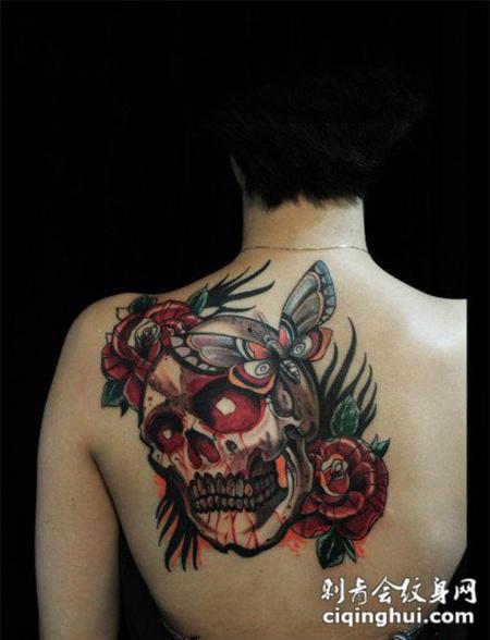 后背纹身死神图片女生大全