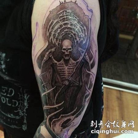 恶魔图腾花臂纹身图片合辑图片