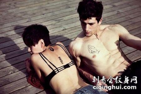 欧美情侣个性情侣英文纹身图片大全