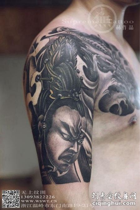 半胛二郎神纹身图案大全