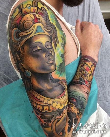 佛之庇佑,好看的佛像花臂纹身(图片编号:12978)_最新