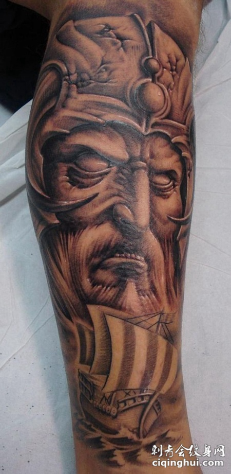 欧美逼真个性纹身d图案大全