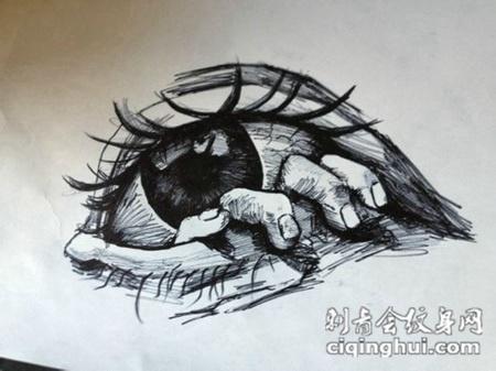 个性眼睛纹身图案手稿大全