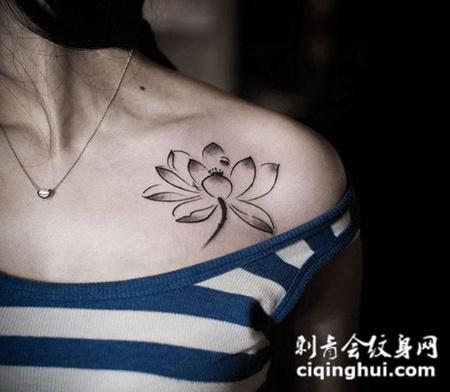 纹身肩膀小图案图片大全