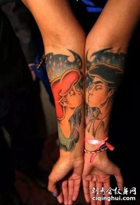 一纹定情情侣纹身图案