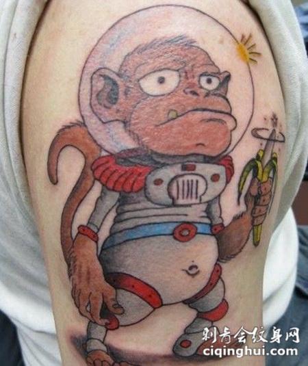 个性猴子纹身图案