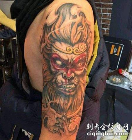 猴子图案纹身个性图片合辑