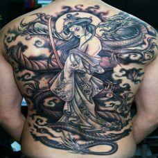满背纹身图案大全推荐