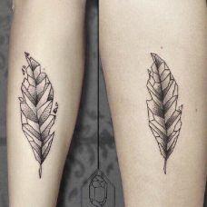 纹身小清新图案叶子素材