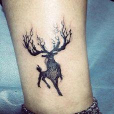 男生小腿上纹身图案大全