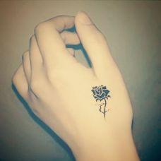 纹身手上花朵图案大全