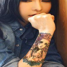 花臂女生纹身图案图片大全
