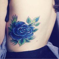 蓝色妖姬纹身图片大全