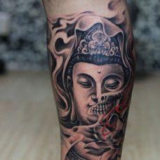 个性佛头纹身图片