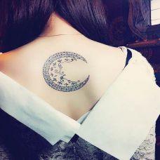 纹身小清新月亮图腾图片