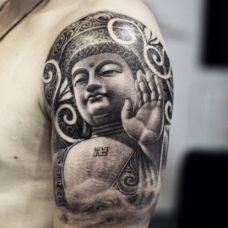 佛头纹身图片个性图案