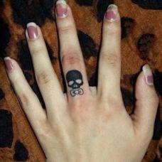女生纹身骷髅图案素材合辑