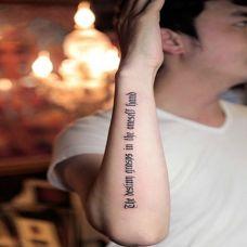 哥特式英文手臂纹身图案大全