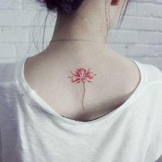 小清新花朵纹身图案素材