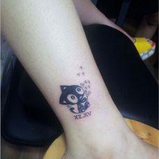 猫图片纹身女生图案大全