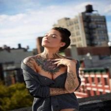 欧美美女另类性感纹身