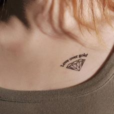 个性的钻石纹身图片集锦