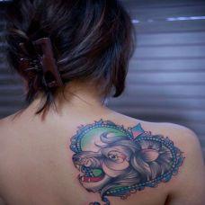 猴子女纹身图片精选素材