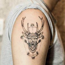 麋鹿纹身图案大全精选推荐