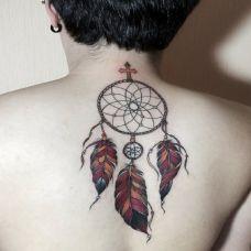 男生背部图简单案纹身图片