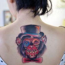 后背猴子纹身图案精选合辑