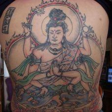 观音满背纹身图片写真