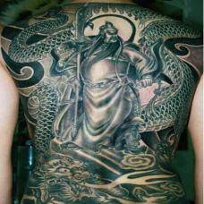 关公手臂纹身图片素材