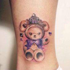 纹身图案小熊精选图片