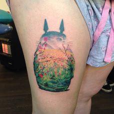 创意龙猫动画人物纹身图片