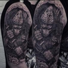 神猴战士,手臂猴子创意纹身