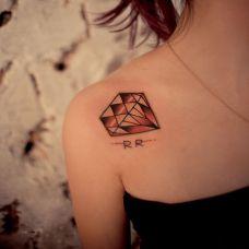 钻石纹身图案女生图片