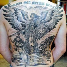 满背霸气男人纹身图片