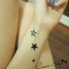 手腕小星星纹身图案
