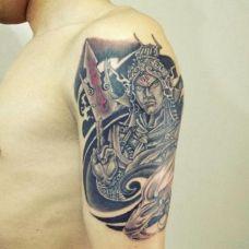 二郎神纹身图片手臂图案