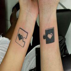 情侣纹身图案手臂图片大全