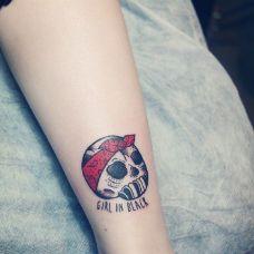 纹身图案小骷髅个性图片