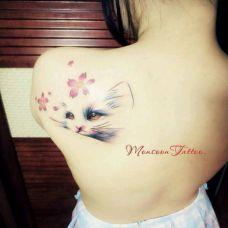 猫纹身图案素材精选图集