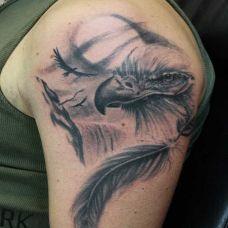 老鹰手臂纹身图案精选图片
